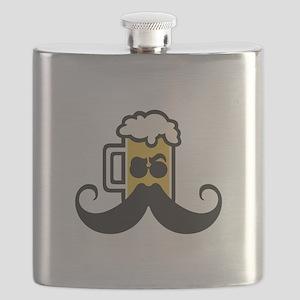 Beer Mustache Flask