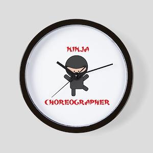 Ninja Choreographer Wall Clock