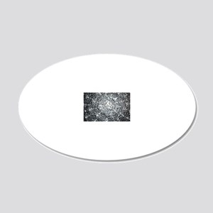 Silver Water Drops 20x12 Oval Wall Decal
