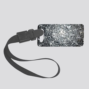 Silver Water Drops Small Luggage Tag