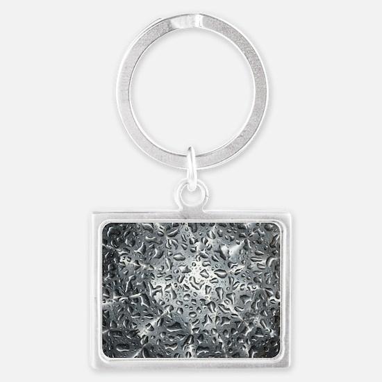 Silver Water Drops Landscape Keychain