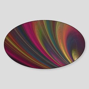 Fractal Colorful Art Sticker (Oval)
