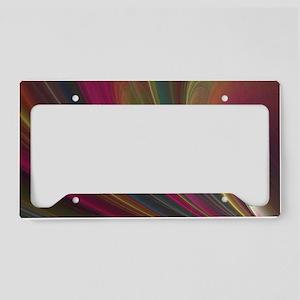 Fractal Colorful Art License Plate Holder