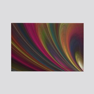 Fractal Colorful Art Rectangle Magnet