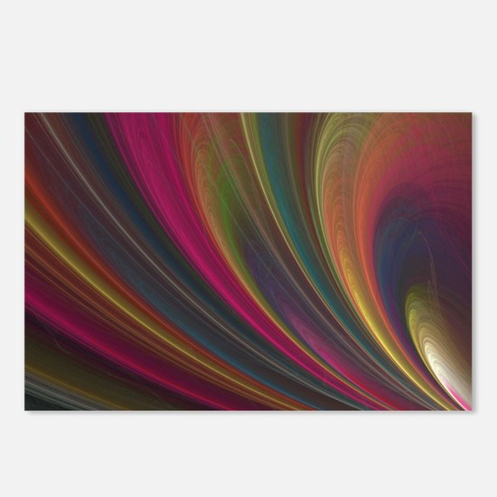 Fractal Colorful Art Postcards (Package of 8)
