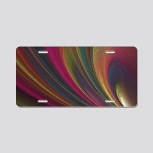 Fractal Colorful Art Aluminum License Plate