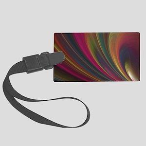 Fractal Colorful Art Large Luggage Tag