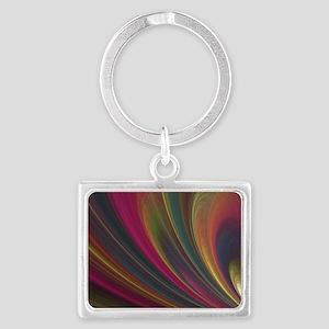 Fractal Colorful Art Landscape Keychain