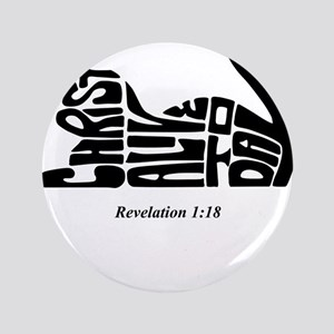 """CAT: Christ Alive Today 3.5"""" Button"""