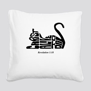 CAT: Christ Alive Today Square Canvas Pillow