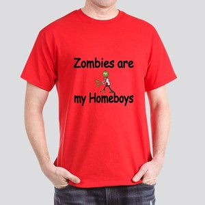 Zombies Are My Homeboys Dark T-Shirt