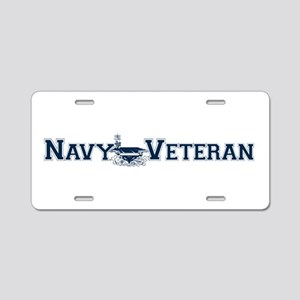 Navy Veteran (Carrier) Aluminum License Plate