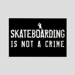 Skateboarding is not a Crime Rectangle Magnet