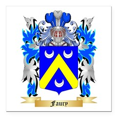 Faury Square Car Magnet 3