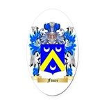 Faure Oval Car Magnet