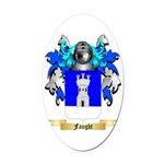 Faught Oval Car Magnet