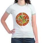 Celtic Autumn Leaves Jr. Ringer T-Shirt