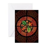 Celtic Autumn Leaves Greeting Cards (Pk of 10)