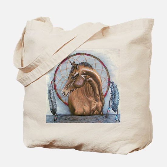 Horse with Dreamcatcher Tote Bag