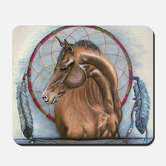 Horse with Dreamcatcher Mousepad