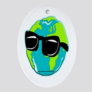 Global Warming Oval Ornament