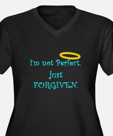 Not Perfect Just Forgiven Black Tee Plus Size T-Sh