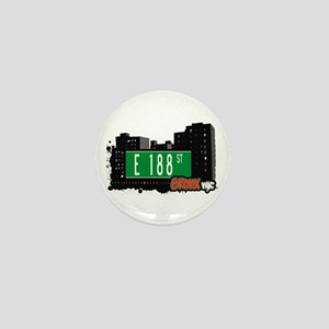 E 188 St, Bronx, NYC Mini Button