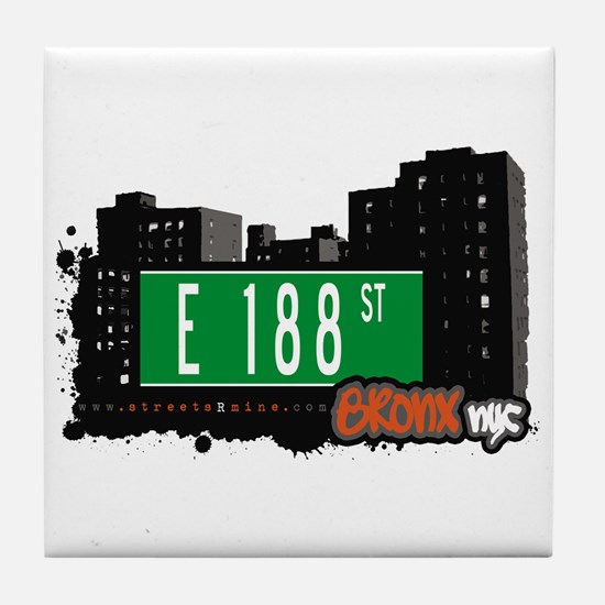 E 188 St, Bronx, NYC Tile Coaster