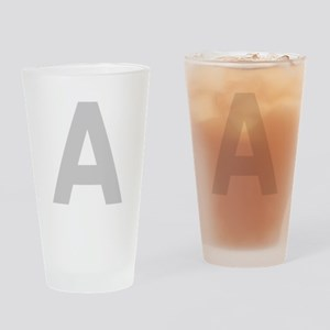 Letter A Light Gray Drinking Glass