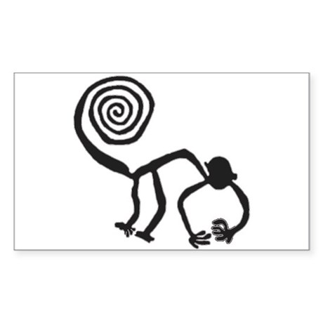 Nazca Monkey (black) Rectangle Sticker