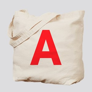 Letter A Red Tote Bag