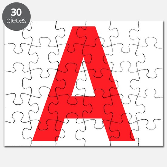 Letter A Red Puzzle