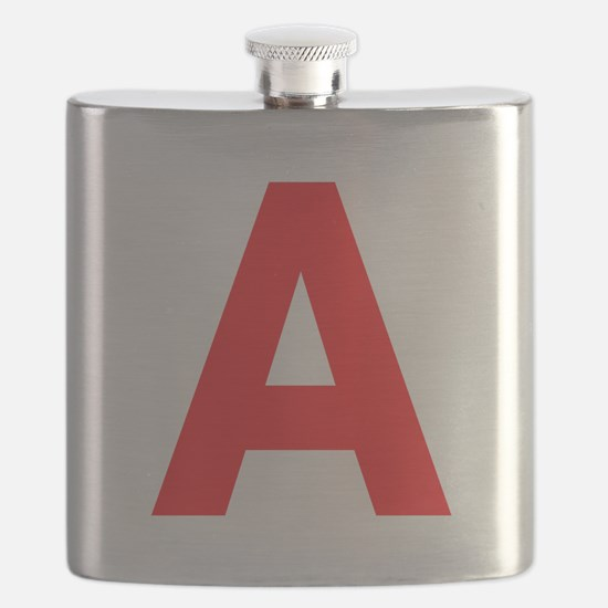 Letter A Red Flask