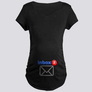 Inbox (Twins) Maternity Dark T-Shirt