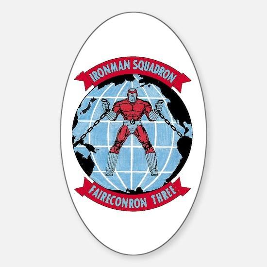 VQ 3 Ironman Sticker (Oval)