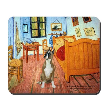 Room with a Boxer Mousepad