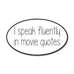 I Speak Fluently In Movie Qu 20x12 Oval Wall Decal
