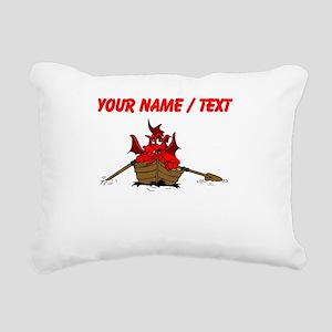 Custom Red Dragon On Boat Rectangular Canvas Pillo