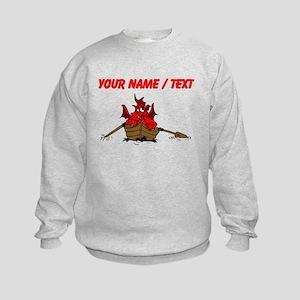Custom Red Dragon On Boat Sweatshirt