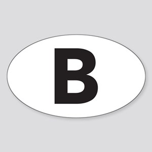 Letter B Black Sticker