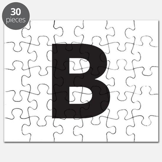 Letter B Black Puzzle