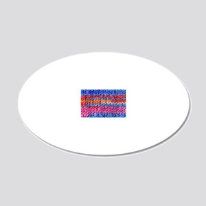 Knitwear 007 20x12 Oval Wall Decal