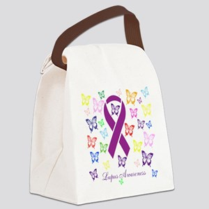 Lupus Multicolored Butterfly Awareness Canvas Lunc