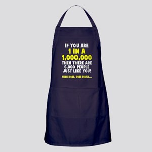 6,000 people just like you Apron (dark)
