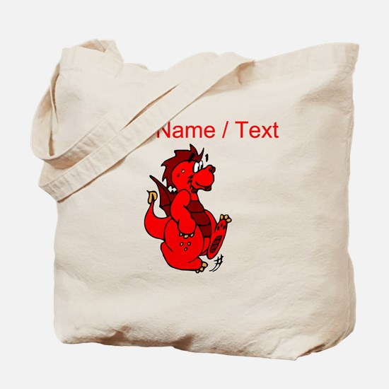 Custom Red Dragon Walking Tote Bag