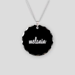 Melanin Necklace Circle Charm