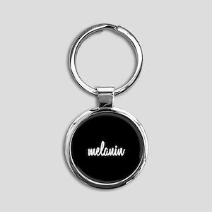 Melanin Round Keychain