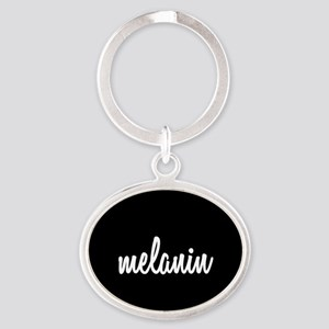 Melanin Oval Keychain