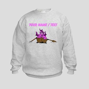 Custom Pink Dragon On Boat Sweatshirt
