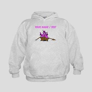 Custom Pink Dragon On Boat Hoodie